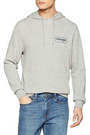 Wrangler Men's Logo Hoodie Sweatshirt, (Mid Mel A37)
