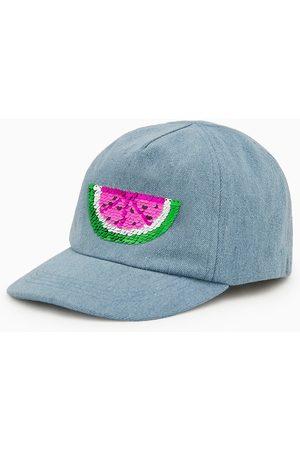 Zara Watermelon sequin denim cap