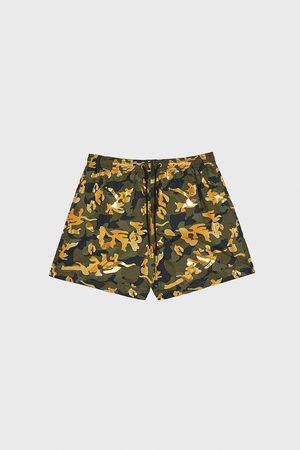 Zara Contrast camouflage print swimming trunks