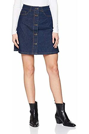 Noisy May Women's Nmsunny Shortdnm Skater Skirt Gu027 Noos (Dark Denim)