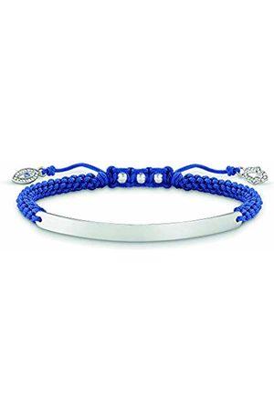 Thomas Sabo Women-Bracelet Love Bridge 925 Sterling Nylon Zirconia white Length from 14.5 to 21 cm Bridge 5 cm LBA0066-897-1-L21v