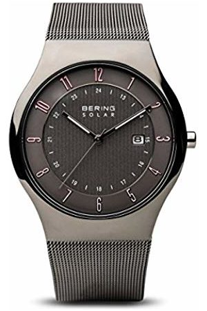 Bering Mens Analogue Solar Powered Watch with Stainless Steel Strap 14640-077
