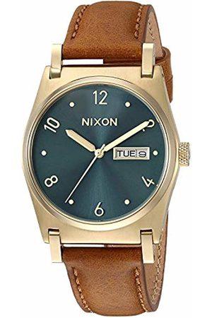 NIXON Unisex Analogue Quartz Watch with Leather Strap A955-2626-00