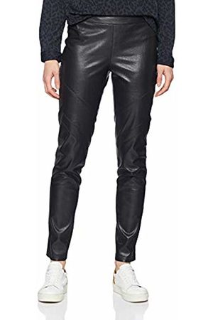 Daniel Hechter Women's Fake Leather Pants Trousers, (Jet 990)