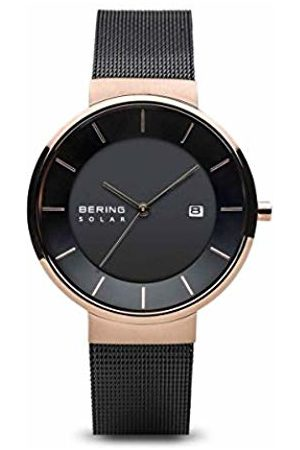 Bering Mens Analogue Solar Powered Watch with Stainless Steel Strap 14639-166
