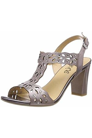 Caprice Women's Andrea Ankle Strap Sandals, (Soft Met. 596)