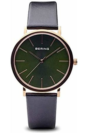 Bering Mens Analogue Quartz Watch with Leather Strap 13436-469