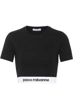 Paco rabanne Women Crop Tops - Jersey cropped top