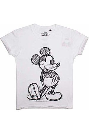 Disney Girl's Mickey Sketch T-Shirt