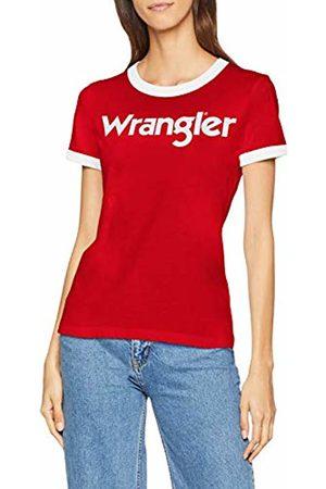 Wrangler Women's Ss Logo Tee T-Shirt, (Formula Vwo)