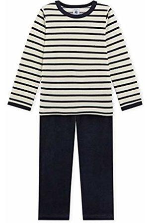 Petit Bateau Boy's Pyjama SM/C/S 2555045 Set, Mehrfarbig Coquille/Smoking 45.0