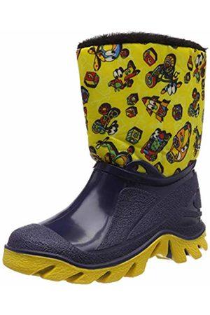 LICO Unisex Kids' Player Wellington Boots, Marine/Gelb
