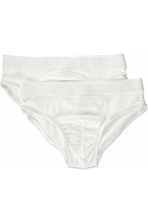 Petit Bateau Girl's Slips Fermes S/V Brief (Pack of 2), White)