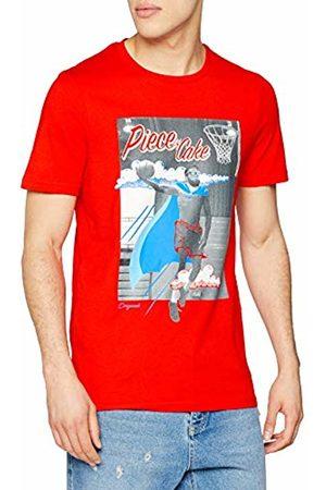 Jack & Jones Men's Jorart Carnival Tee Ss Crew Neck T-Shirt, (Fiery Fit:Reg)