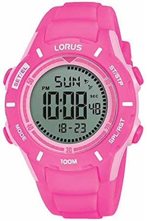 Lorus Girls Chronograph Digital Watch with Silicone Strap R2373MX9