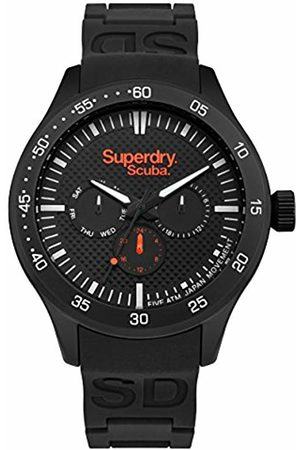 Superdry Mens Analogue Quartz Watch with Silicone Strap SYG210BB