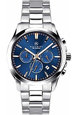 Accurist Men Watches - Men's Quartz Watch with Dial Chronograph Display and Silver Stainless Steel Bracelet 7202