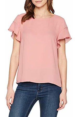Vila Women's Vilucy S/s Flounce Top - Noos Vest Brandied Apricot