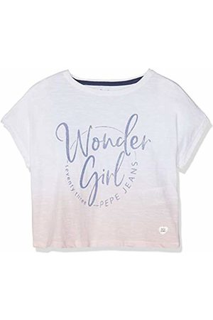 Pepe Jeans Girl's Jonquil T-Shirt, (Optic 802)