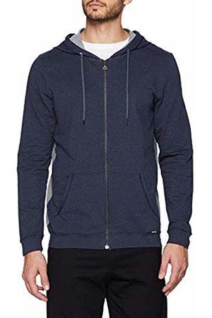Skiny Men's Sloungewear Jacke Cardigan, (Smokey Melange)