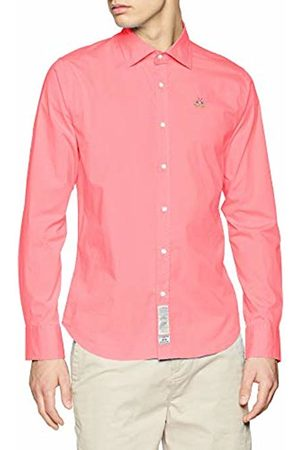 La Martina Men's Man Shirt L/s Poplin Stretch Casual (Geranium 05187)