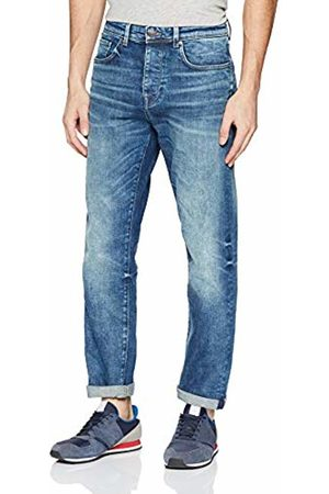 Selected Homme Men's Slhtapered-Toby 6146 M.blu St JNS W Noos Tapered Fit Jeans, Medium Denim