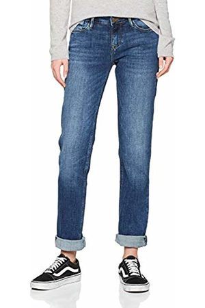 Cross Jeans Women's Rose Straight Jeans, (Dark Mid 056)