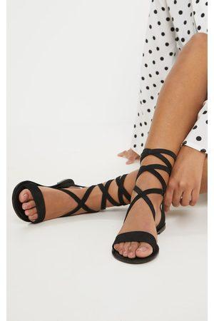 PRETTYLITTLETHING Basic Leather Sandal