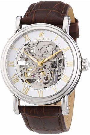 Carucci Watches Men's Automatic Watch Catanzaro II CA2203BR with Leather Strap