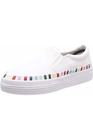 Tommy Hilfiger Women's Slip On Rainbow Flatform Sneaker Low-Top ( 100) 3.5 UK