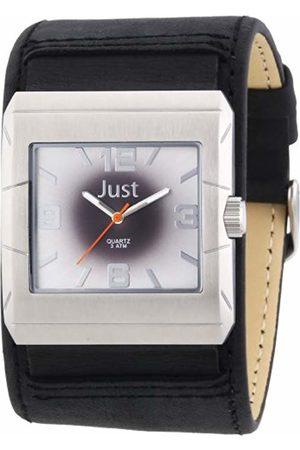 Just Watches Men's Quartz Watch 48-S2566-SL-BK with Leather Strap