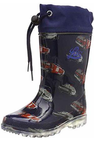 LICO Boys' Powerlight W Blinky Wellington Boots, Marine/Rot/Blau
