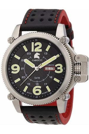 Carucci Watches Men's Automatic Watch CA2191RD with Leather Strap