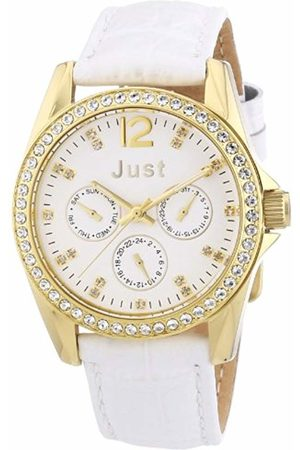 Just Watches Women's Quartz Watch 48-S8195-WH with Leather Strap