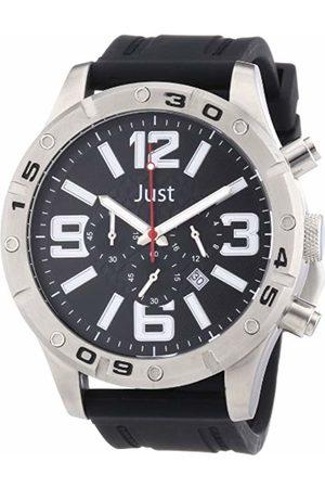 Just Watches Men's Quartz Watch 48-S3978-BK with Rubber Strap