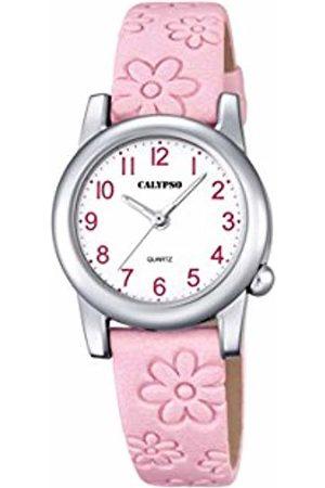 Calypso Girls Analogue Classic Quartz Watch with Leather Strap K5710/2