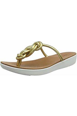 FitFlop Women's Swirl Knot Jasmin Toe Post Open Sandals, (Artisan 667)