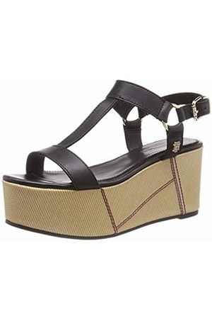 Tommy Hilfiger Women's Elevated Leather Flatform Sandal Platform ( 990) 4 UK