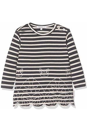 Noppies Baby Girls' G Dress Sweat ls Weigelstown str (Charcoal C271)