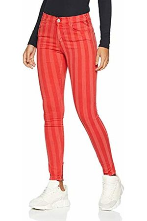 Replay Women's Stella Ankle Zip Skinny Jeans, (Striped Bright 120)