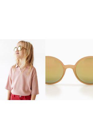 Zara Round leopard print sunglasses