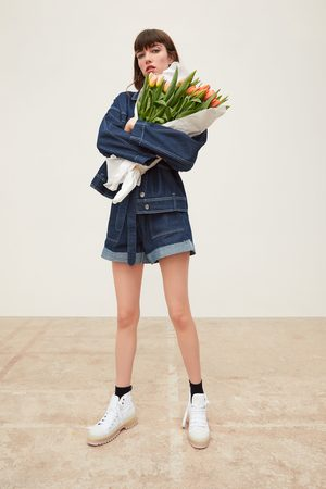 Zara Denim jacket with contrast topstitching