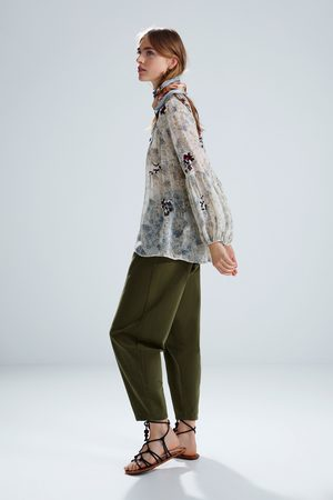 a90c6b8e6c8 Zara floral-crossover women's shirts & blouses, compare prices and buy  online