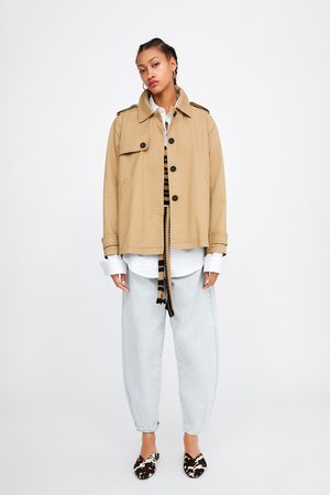 Zara Buttoned short trench coat