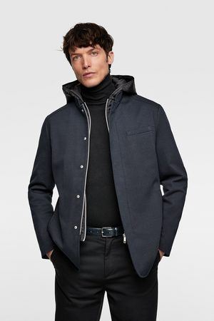 Zara Coat with contrasting hood