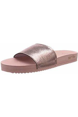 flip*flop Women's's Pool Metallic Cracked Mules (Silverpink 9200)