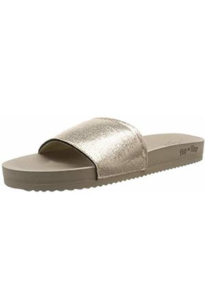 new york 10da3 54e7d Flip*flop pool metallic cracked, Women's Mules Mules, Braun (Taupe 8840)