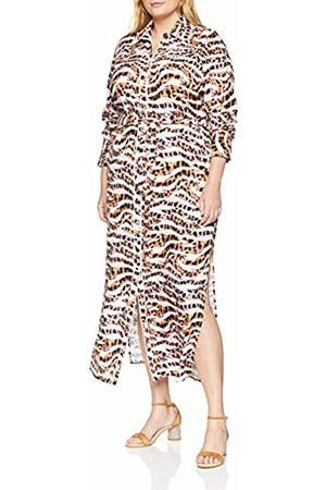 Lost Ink Women's Maxi Shirt Dress in Animal Print Party