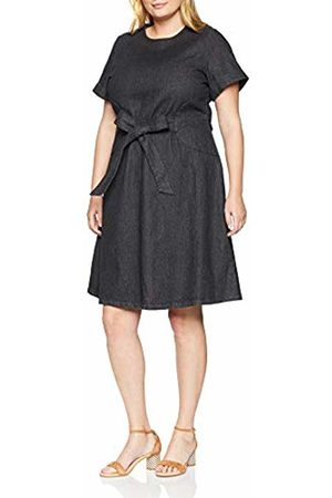 Lost Ink Women's's FIT and Flare Denim Dress Washed 0003