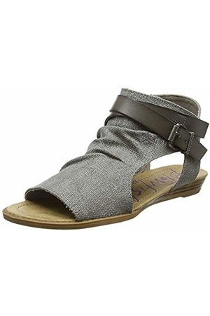 Blowfish Women's Balla Ankle Strap Sandals, (Steel Rancher Canvas)